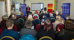 Pictured: <br /> Scottish Labour deputy leader Alex Rowley was joined by Edinburgh City Council leader Andrew Burns at the Serenity Cafe in Edinburgh today to launch the party's local government election manifesto. <br /> Ger Harley | EEm 21 March 2017