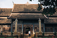 Chiang Mai, Thailand -- May 20, 2017: A small temple outside of the Old Town of Chiang Mai, Thailand.