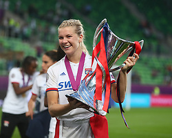 May 18, 2019 - Budapest, Hungary - Ada Hegerberg of Olympique Lyonnais with Trophy..during the UEFA Women's Champions League Final between Olympique Lyonnais and FC Barcelona Women at Groupama Arena on May 18, 2019 in Budapest, Hungary  (Credit Image: © Action Foto Sport/NurPhoto via ZUMA Press)
