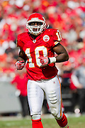 KANSAS CITY, MO - SEPTEMBER 26:   Terrance Copper #10 of the Kansas City Chiefs runs onto the field against the San Francisco 49ers at Arrowhead Stadium on September 26, 2010 in Kansas City, Missouri.  The Chiefs defeated the 49ers 31-10.  (Photo by Wesley Hitt/Getty Images) *** Local Caption *** Terrance Copper