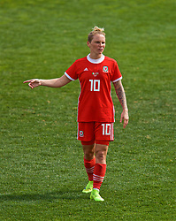 MARBELLA, SPAIN - Tuesday, March 5, 2019: Wales' Jessica Fishlock looks dejected as her side lose 1-0 during an international friendly match between Wales and Republic of Ireland at the Estadio Municipal de Marbella. (Pic by David Rawcliffe/Propaganda)