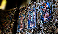 Christian art work on the walls  of the  Afendiko church , Mistra (Archaeological Site of Mystras, UNESCO World Heritage List, 1989),<br />