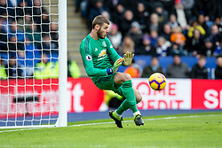 February 3, 2019 - Leicester, England, United Kingdom - David De Gea of Manchester United saves during the Premier League match between Leicester City and Manchester United at the King Power Stadium, Leicester on Sunday 3rd February 2019. (Credit Image: © Mi News/NurPhoto via ZUMA Press)