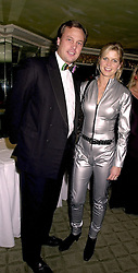 The MARQUESS & MARCHIONESS OF MILFORD HAVEN at a ball in London on 30th October 2000.OIL 51