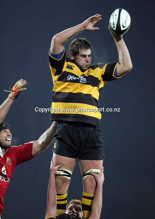 Scott Breman in action during the British and Irish Lions v Taranaki rugby match at Yarrow Stadium, New Plymouth, New Zealand on Wednesday 8 June, 2005. The Lions won the match, 36 - 14. Photo: Hannah Johnston/PHOTOSPORT