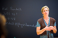 "(Cambridge, MA - September 18, 2006) - Harvard University Professor Lisa Randall teaches a Freshmen Seminar called ""The Universe's Hidden Dimensions"" Staff Photo Justin Ide/Harvard News Office"