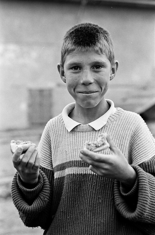Daniel Hostic at the orphanage of Popricani when he was 14 in 1997