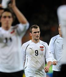 09-02-2011 VOETBAL: NEDERLAND - OOSTENRIJK: EINDHOVEN<br /> Netherlands in a friendly match with Austria won 3-1 / Erwin Hoffer AUT<br /> ©2011-WWW.FOTOHOOGENDOORN.NL