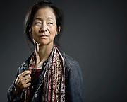 Julie Otsuka, auteure americano-japonaise.<br /> Le Festival de litterature &quot;America&quot; a fete son 10 eme anniversaire a Vincennes du 20 au 23 septembre 2012. Plus de 70 auteurs de toutes les ameriques se sont retrouves pour 3 jours de debats et de dedicaces.<br /> Vincennes,FRANCE-le 23/09/2012