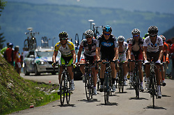 Gruppetto on the top of the Col de la Joux Plane during stage 6 of the Criterium du Dauphine. Photo by Simon Parker/SPactionimages