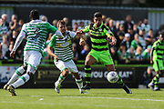 Forest Green Rovers Omar Bugiel(11) on the ball during the EFL Sky Bet League 2 match between Forest Green Rovers and Yeovil Town at the New Lawn, Forest Green, United Kingdom on 19 August 2017. Photo by Shane Healey.