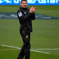 Beauden Barrett. Hurricanes Super Rugby final captain's run at Westpac Stadium, Wellington, New Zealand on Friday, 5 August 2016. Photo: Dave Lintott / lintottphoto.co.nz