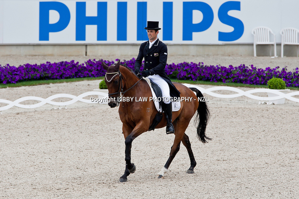 NZL-Jonathan Paget (BULLET PROOF) 2012 GER-CHIO Aachen Weltfest des Pferdesports (Thursday) - DHL Preis CICO*** Eventing Dressage: INTERIM-30TH