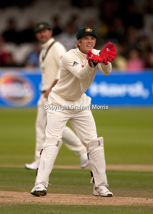 Australian wicket keeper Tim Paine. Photo: Graham Morris (Tel: +44(0)20 8969 4192 Email: sales@cricketpix.com) 16/07/10