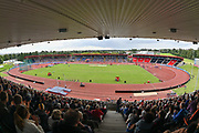 General View of the Alexander Stadium during the 800m during the Birmingham Grand Prix, Sunday, Aug 18, 2019, in Birmingham, United Kingdom. (Steve Flynn/Image of Sport via AP)