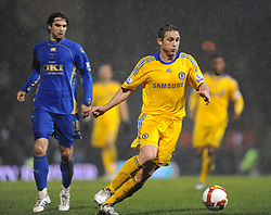 Frank Lampard (Chelsea) moves away from Niko Kranjcar (Portsmouth) during the Barclays Premier League match between Portsmouth and Chelsea at Fratton Park on March 3, 2009 in Portsmouth, England.