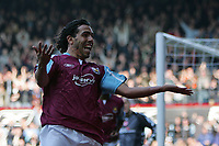 Photo: Lee Earle.<br /> West Ham United v Middlesbrough. The Barclays Premiership. 31/03/2007.West Ham's Carlos Tevez celebrates after scoring their second.
