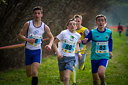 Young runners at Slovenian Cross Country Championships in Sentjur, Slovenia on March 15, 2014. (Photo by Peter Kastelic / Sportida.com)