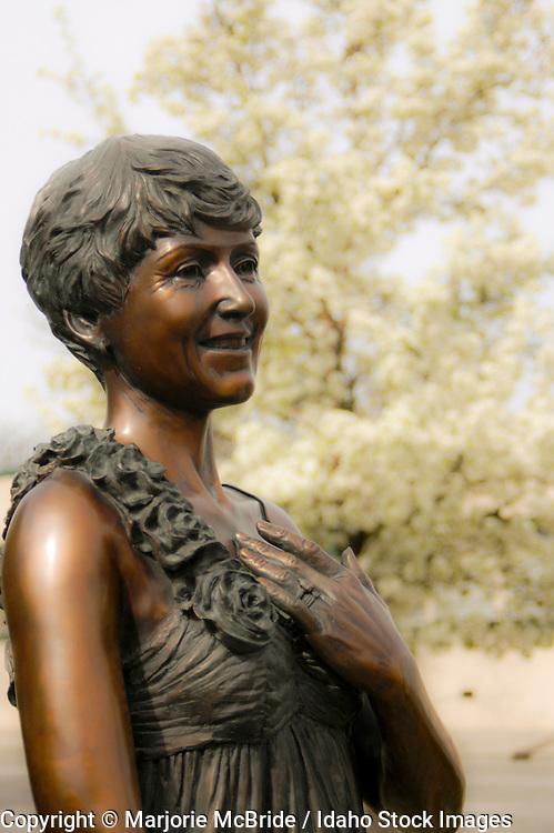 Bronze statue of Ester Simplot, Boise, Idaho.