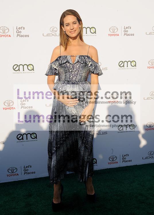 Lyndsy Fonseca at the Environmental Media Association's 27th Annual EMA Awards held at the Barker Hangar in Santa Monica, USA on September 23, 2017.