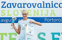 Ana Thaler at Tenis fest ceremony during Day 7 at ATP Challenger Zavarovalnica Sava Slovenia Open 2018, on August 9, 2018 in Sports centre, Portoroz/Portorose, Slovenia. Photo by Vid Ponikvar / Sportida