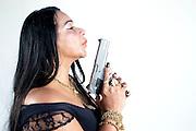 Belo Horizonte_MG, 30 de abril de 2014. <br /> <br /> VEJA<br /> <br /> Na foto a Delegada Rosely Abaeta. Ela virou noticia por ter reagido a um assalto e atirado em um bandido. <br /> <br /> Foto RODRIGO LIMA / NITRO.