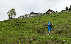 THEMENBILD - durch die Region in und um Innsbruck führen zahlreiche Wanderwege und -routen für alle Zielgruppen. Vom Familienwanderweg bis zu hochalpinen Touren ist für alle Naturbegeisterten etwas dabei. Im Bild ein Wanderer auf dem Weg zur Höttinger Alm // The region in and around Innsbruck lead numerous hiking trails and routes for all target groups. From the family hiking trail to high alpine tours, there is something for all nature enthusiasts. Innsbruck, Austria on2017/05/21. EXPA Pictures © 2017, PhotoCredit: EXPA/ Jakob Gruber