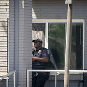 HOLLYWOOD, FL - [SEPTEMBER 13, 2017]: <br /> Hollywood Police Department officer  outside a rehabilitation center in the city where 6 patients died on September 12, 2017 in Hollywood, United States. (Photo by Angel Valentin/Getty Images)