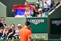 Supporters de Novak DJOKOVIC - 28.05.2015 - Jour 5 - Roland Garros 2015<br />Photo : Dave Winter / Icon Sport