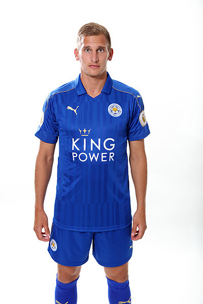 LEICESTER, ENGLAND - JULY 21: Marc Albrighton during Leicester City Official Portraits at Belvoir Drive Training Complex on July 21 , 2016 in Leicester, United Kingdom.  (Photo by Plumb Images/Leicester City FC via Getty Images)