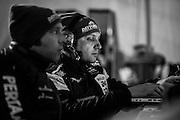 January 27-31, 2016: Daytona 24 hour: Lamborghini engineers work early in the morning.