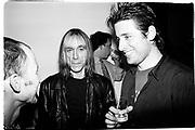 Iggy Pop and David Sims. Kate Moss book party. James Danziger Gallery. New York. 11 September 1995. © Copyright Photograph by Dafydd Jones 66 Stockwell Park Rd. London SW9 0DA Tel 020 7733 0108 www.dafjones.com