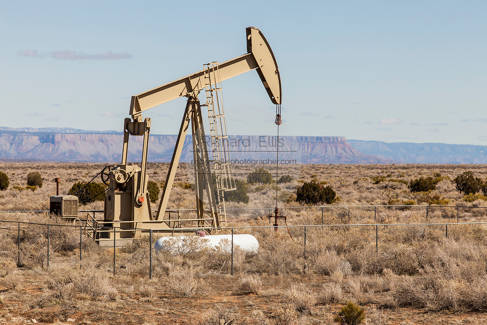 Oil derrick in the desert of the Hualapai Nation reservation, AZ.