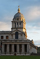 The entrance to the Chapel, Royal Naval College, Greenwich, London.