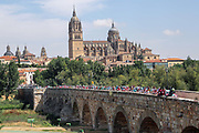 Start Salamanca, landscape and peloton during the 73th Edition Tour of Spain, Vuelta Espana 2018, stage 10 cycling race, Salamanca - Fermoselle Bermillo de Sayago 177 km on September 4, 2018 in Spain - Photo Luis Angel Gomez / BettiniPhoto / ProSportsImages / DPPI