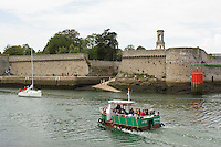 Ferry crossing to The Ville Close, The Old Town of Concarneau
