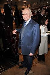 SIR PETER O'SULLEVAN at a party to celebrate the paperback publication of Lucky Break by leading trainer Paul Nicholls held at Thomas Pink, 85 Jermyn Street, London on 23rd February 2011.