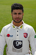 Imran Qayyum of Kent during the Kent County Cricket Club Headshots 2017 Press Day at the Spitfire Ground, Canterbury, United Kingdom on 31 March 2017. Photo by Martin Cole.