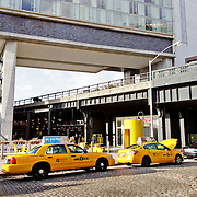 Yellow Cabs in front of The Standard Hotel in Meatpack.