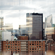 New York Cityscape as seen from the Standard Hotel in MeatPack district.