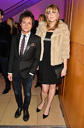 JAMIE CULLUM and SOPHIE DAHL at the Alexandra Shulman and Leon Max hosted opening of Vogue 100: A Century of Style at The National Portrait Gallery, London on 9th February 2016.