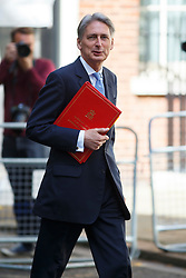 © Licensed to London News Pictures. 12/05/2015. LONDON, UK. Foreign Secretary Philip Hammond attending to the first Conservative cabinet meeting after the 2015 general election in Downing Street on Tuesday, 12 May 2015. Photo credit: Tolga Akmen/LNP