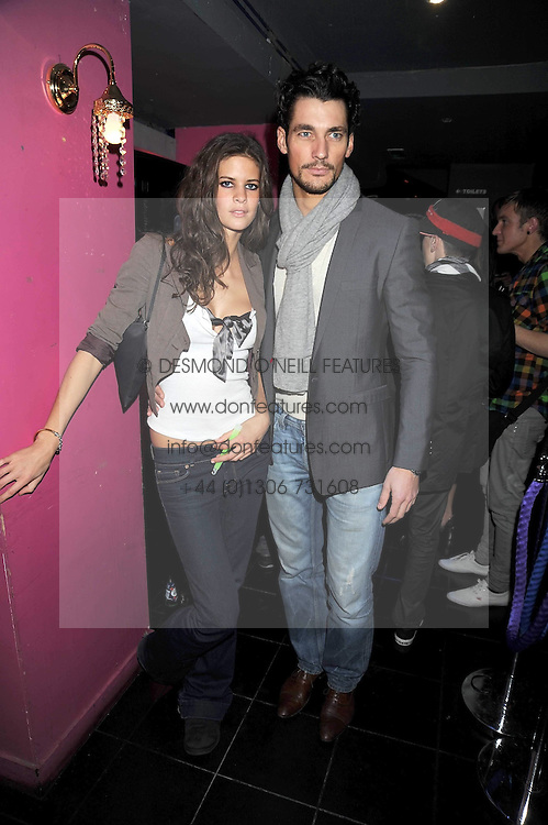 DAVID GANDY and CHLOE PRIDHAM at the launch party of the Nokia 5800 phone held at PUNK 14 Soho Street, London W1 on 27th January 2009.
