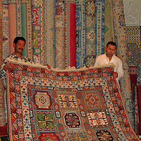 Rug Merchants in Fes el Bali at Fez, Morocco <br />