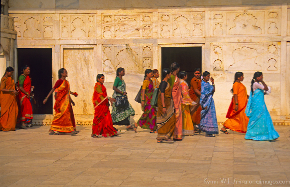Asia, India. Women in colorful saris.