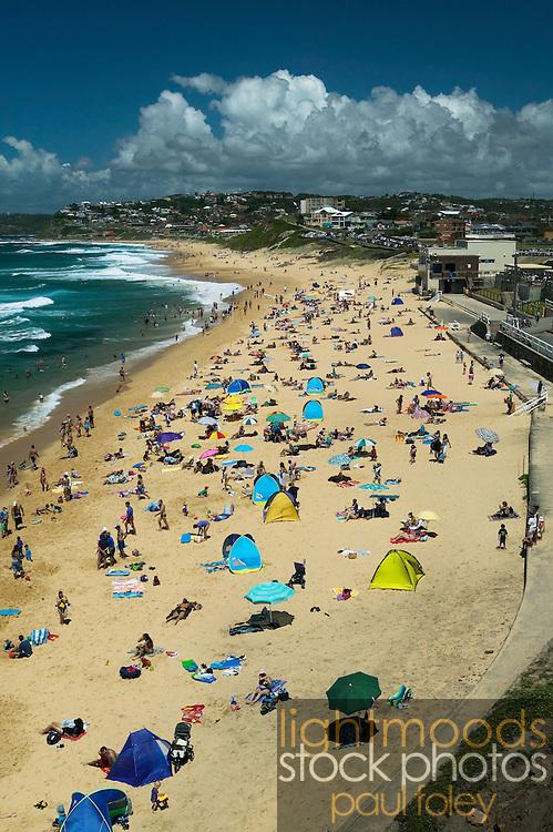 Summer Day at the beach, Australia, Bar Beach, Newcastle, New South Wales