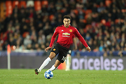 December 12, 2018 - Valencia, Spain - December 12, 2018 - Valencia, Spain - .Jesse Lingard of Manchester United during the UEFA Champions League, Group H football match between Valencia CF and Manchester United on December 12, 2018 at Mestalla stadium in Valencia, Spain (Credit Image: © Manuel Blondeau via ZUMA Wire)