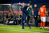 12-11-2015 VOETBAL:JONG ORANJE-JONG WIT RUSLAND:TILBURG<br /> Koning Willem II Stadion EK-kwalificatiewedstrijd<br /> <br /> Jong oranje bondscoach Fred Grim maakt zich kwaad<br /> <br /> Foto: Geert van Erven