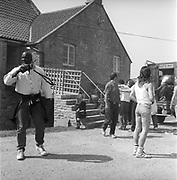 Police arresting a man at Glastonbury 1989.