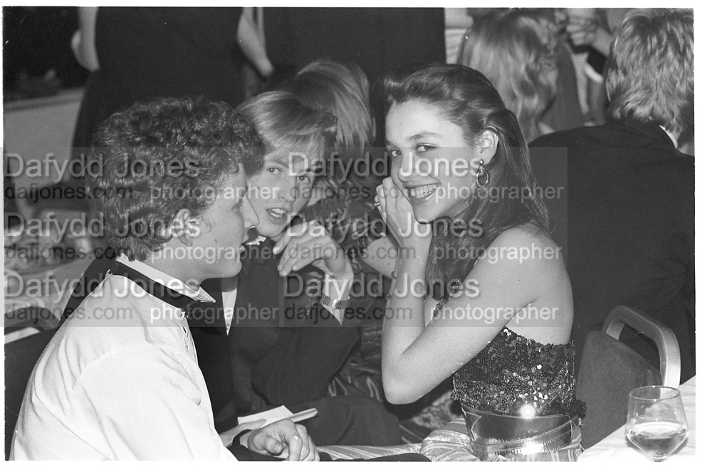 ROBERT FAIRER; DANIELLA CAHILL, Bluebird Ball. Cafe Royal. 6 January 1983,<br /> <br /> SUPPLIED FOR ONE-TIME USE ONLY&gt; DO NOT ARCHIVE. &copy; Copyright Photograph by Dafydd Jones 248 Clapham Rd.  London SW90PZ Tel 020 7820 0771 www.dafjones.com